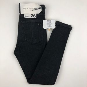 NWT Rag & Bone High Rise Slit Ankle Skinny Jeans